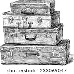 old suitcases | Shutterstock .eps vector #233069047