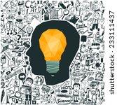 education concept   light bulb  ... | Shutterstock .eps vector #233111437