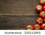 Fresh Cherry Tomatoes On Rusti...