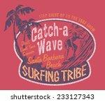 santa barbara surfing  vintage... | Shutterstock .eps vector #233127343
