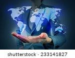 world map on hand   Shutterstock . vector #233141827