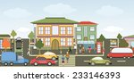 vector illustration of a city... | Shutterstock .eps vector #233146393