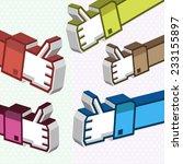social media thumb up like 3d... | Shutterstock .eps vector #233155897