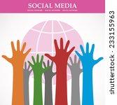 social media network background ... | Shutterstock .eps vector #233155963