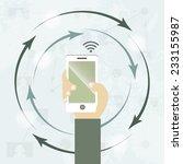 social media network... | Shutterstock .eps vector #233155987