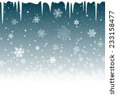 christmas snowy background with ... | Shutterstock .eps vector #233158477