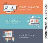 flat style seo website... | Shutterstock .eps vector #233171923