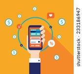 mobile payment online shopping... | Shutterstock .eps vector #233186947