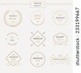 set of premium quality labels... | Shutterstock .eps vector #233199667