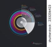 vector infographic template.... | Shutterstock .eps vector #233206423