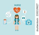 nurse design   vector... | Shutterstock .eps vector #233219827