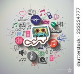 music and entertainment collage ... | Shutterstock .eps vector #233224777