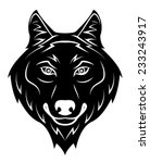 wolf howling | Shutterstock .eps vector #233243917