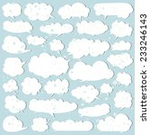 set of white speech bubbles.... | Shutterstock .eps vector #233246143