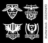 football team crests set with... | Shutterstock .eps vector #233254693