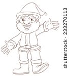 a plain drawing of santa claus... | Shutterstock .eps vector #233270113