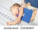 children sleeping on bed with... | Shutterstock . vector #233280847