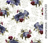 seamless floral pattern with... | Shutterstock . vector #233292433