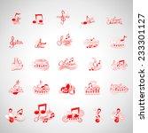 music icons set   isolated on...