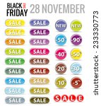 black friday sales tag.  vector ... | Shutterstock .eps vector #233330773