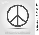 peace sign  vector eps 10... | Shutterstock .eps vector #233331577