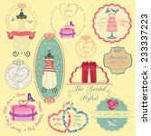 set of vintage wedding and...   Shutterstock .eps vector #233337223