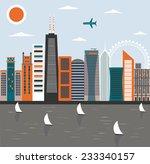 modern city street.  | Shutterstock . vector #233340157