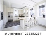 spacious white kitchen with... | Shutterstock . vector #233353297