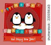 vector merry christmas and... | Shutterstock .eps vector #233358163