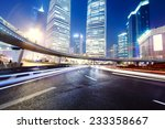 the light trails on the modern... | Shutterstock . vector #233358667