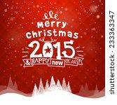 christmas illustration | Shutterstock .eps vector #233363347