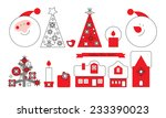 christmas icon set | Shutterstock .eps vector #233390023