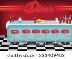 all american vintage style... | Shutterstock . vector #233409403
