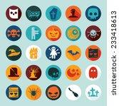 set of halloween icons   Shutterstock . vector #233418613