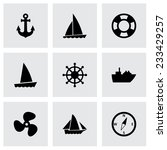 vector ship and boat icon set... | Shutterstock .eps vector #233429257