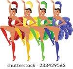 showgirls | Shutterstock .eps vector #233429563