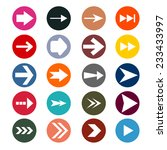 different arrows sign icon set. ... | Shutterstock . vector #233433997