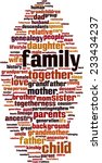 family word cloud concept.... | Shutterstock .eps vector #233434237