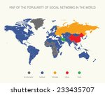 map of the popularity of social ... | Shutterstock .eps vector #233435707