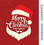 christmas typographic... | Shutterstock .eps vector #233445373