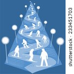 christmas and new year tree ... | Shutterstock .eps vector #233451703