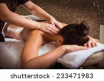 masseur doing massage on woman... | Shutterstock . vector #233471983
