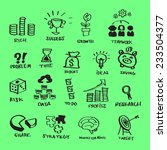 vector business flat icons set... | Shutterstock .eps vector #233504377