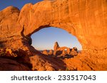 view of turret arch from the... | Shutterstock . vector #233517043