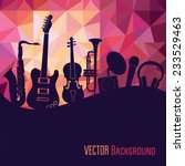 colorful music background.... | Shutterstock .eps vector #233529463
