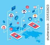 social network communication...   Shutterstock .eps vector #233532823