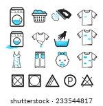 laundry icons set | Shutterstock .eps vector #233544817