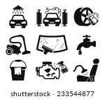 car wash icons set | Shutterstock .eps vector #233544877
