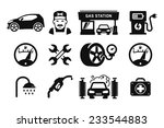 gas station and fuel pump icons ... | Shutterstock .eps vector #233544883