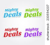 mighty deals colorful vector...